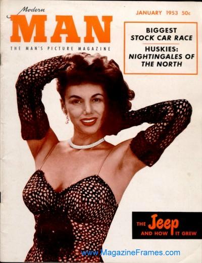 Modern Man Magazine November 1951 - Mari Aldon - Vintage Pinup