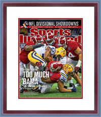 "Magazine Frame. Sports Illustrated Alabama Wins 2012 National Championship.. Frame #802 Cherry Finish 1 1/8"". Price $72.95 as configured"