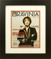 "Magazine Frame. Ravina Magazine. Frame #207 Matte Black 1 1/2"", Outer Mat White Sale, Inner Mat All American Red. Price $66.95 as configured"