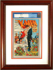 CGC Comic Frame. Frame #221 Embossed Polish Cherry Finish. Outer Mat #918 Very White. Inner Mat #3325 Mandarin.  Price $112.95 as configured