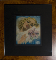 "Pinup Frame. Billy DeVorss Pinup. Frame #639 1 1/8"" Honey Pecan Veneer."