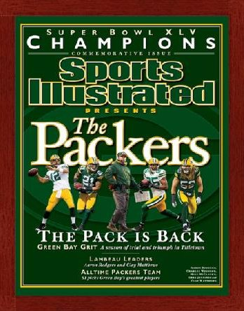 "Magazine Frame. Sports Illustrated 2011 Super Bowl. Frame #634 3/4"" Glossy Mahogany. Price $26.95 as configured"