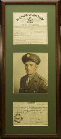 Vertically Framed WWII Documents and Photo. $160.95  as configured.