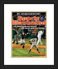 "Magazine Frame. San Fransisco Wins 2012 World Series. Frame #803 Matte Black 1 1/8"". Outer Mat White Sale, Inner Mat Deep Orange.  Price $72.95 as configured"