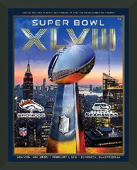 "Super Bowl XVLIII Program. Frame #311 Matte Black Deep 1"". Price $32.95 as configured"