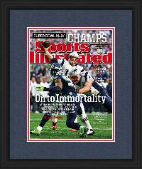 "Newspaper Display Frame. New England Patriots Win Super Bowl XLIX.. Frame #803 Matte Black 1 1/8"". Price $76.95 as configured"