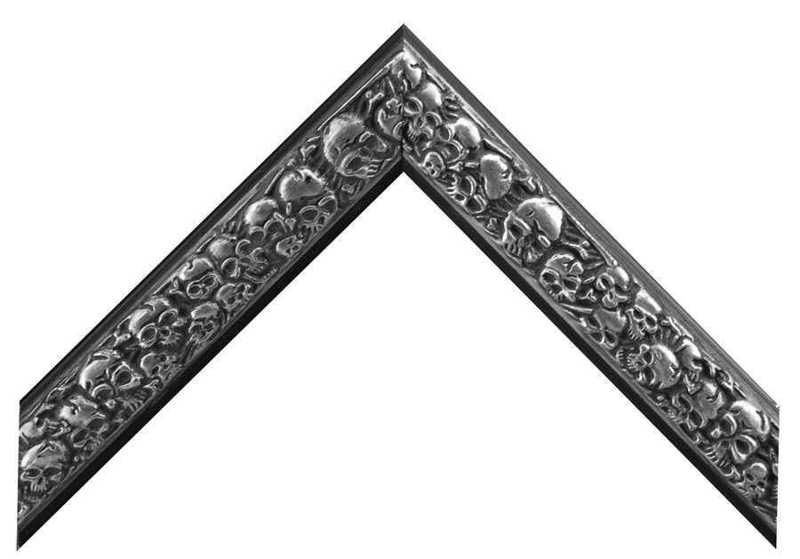 Magazine Display Frame 951 - Skull & Bones Silver/Black
