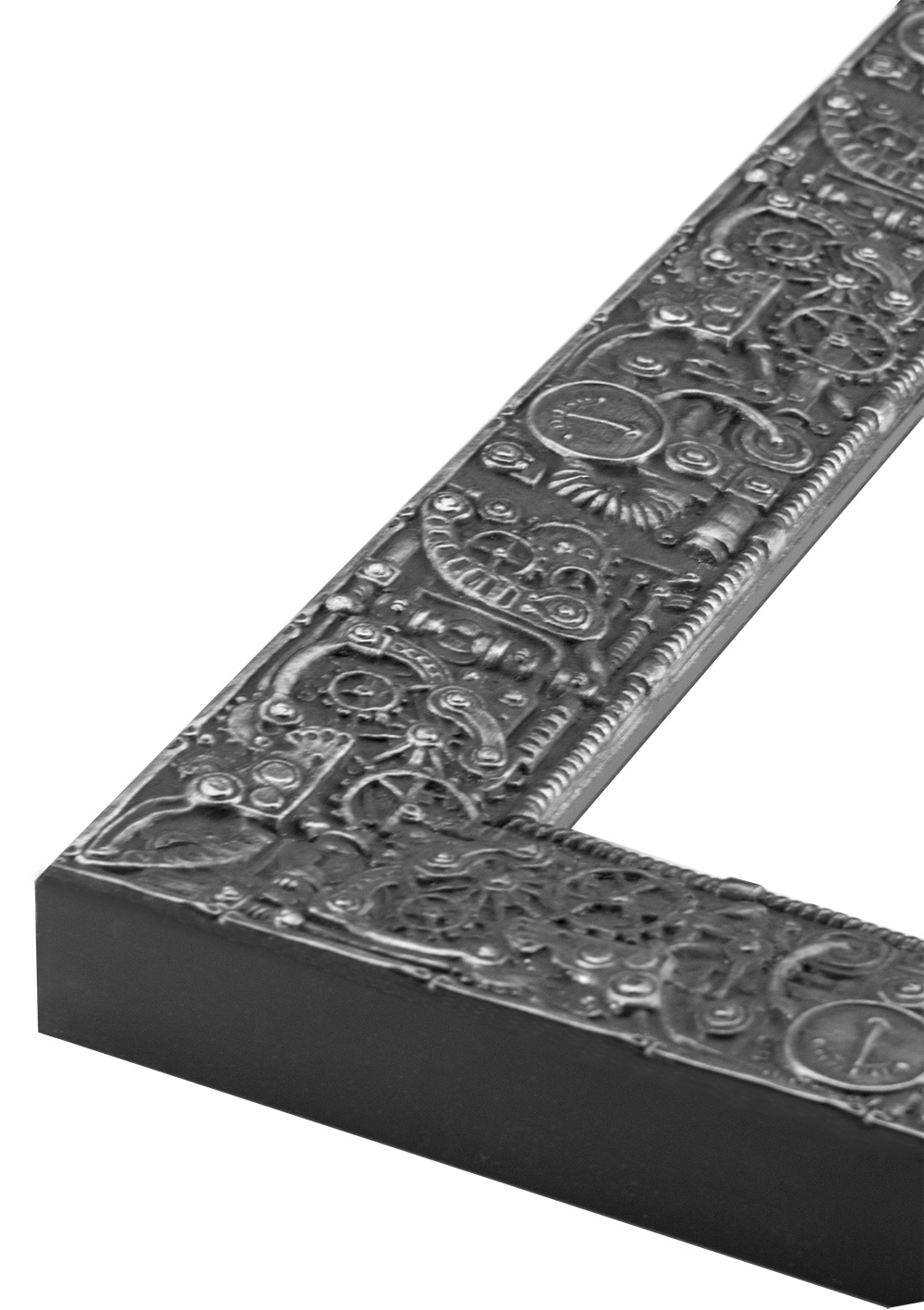 Magazine Display Frame 953 - Steampunk Silver/Black