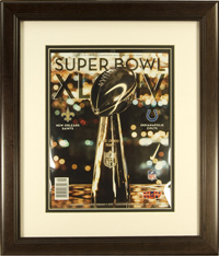 "Magazine Frame. Super Bowl XLIV Program. Frame #692 Coffee Brown 1 3/8"". Price $84.95 as configured"