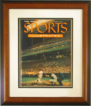 "Magazine Frame. The first Issue of Sports Illustrated. Frame #232 1 1/2"" Stepped Walnut finish. Price $88.95 as configured"
