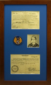 3 Opening WWII Photos, Documents and Patch. $148.95 as configured.