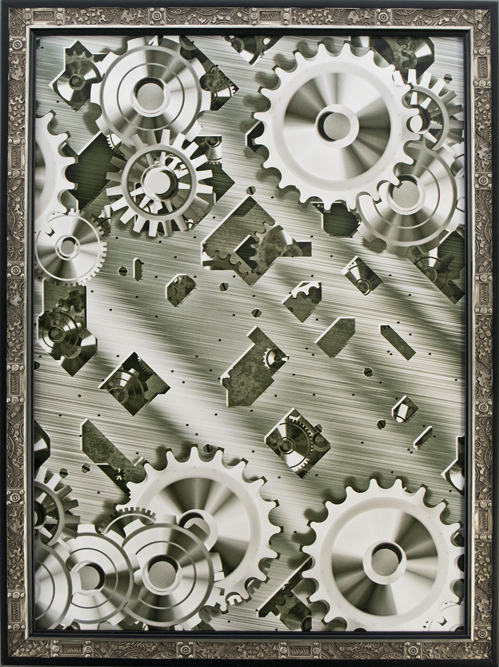 Steampunk Picture Frame. Inspired Cogs and Clockwork