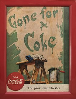 Framed 1953 Coca Cola Ad. Gone For A Coke.