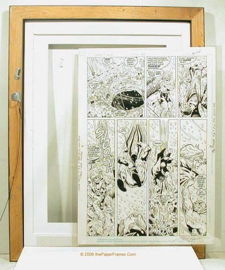 Comic Art Frames at thePaperFramer.Com