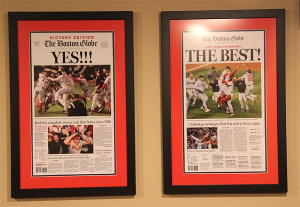 boston redsox world series newspaper frames