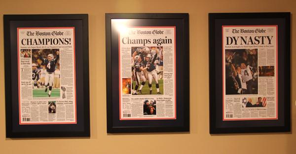new england patriots championship newspaper frames